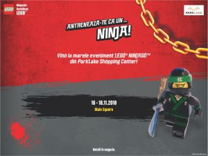 Eveniment LEGO Ninjago in ParkLake Shopping Center București