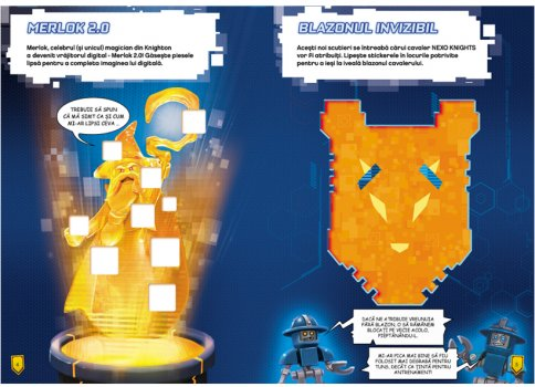 Carte cu stickere LEGO NEXO KNIGHTS