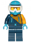 Minifigurina LEGO City-Arctic Snowmobile Driver cty0904